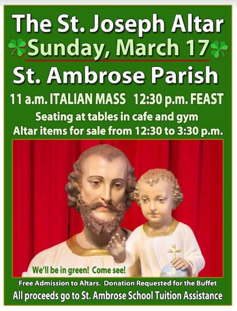 ST. JOSEPH'S ALTAR – MARCH 17, 2019