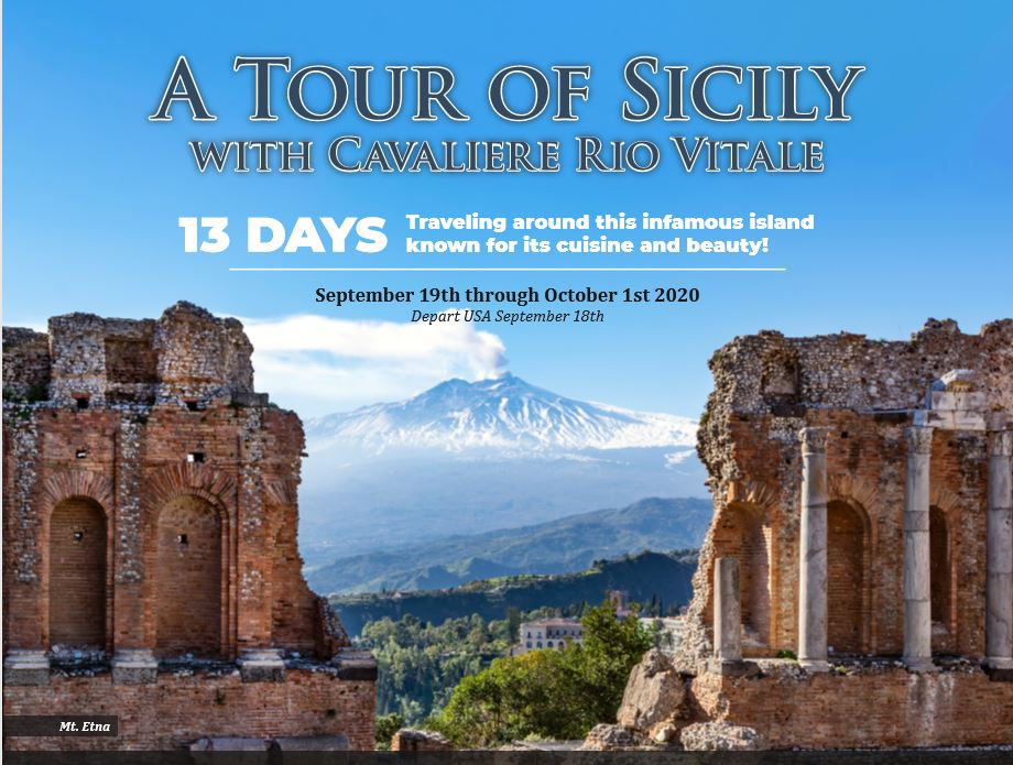 Travel to Sicily September 2020 with the President of Ciao St Louis